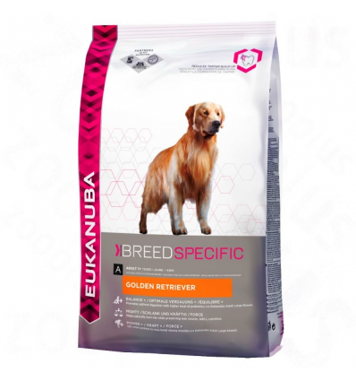 Eukanuba Adult Golden Retriever Breed 12kg + przysmak GRATIS